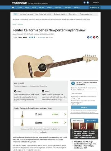 MusicRadar.com Fender California Series Newporter Player