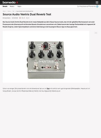 Bonedo.de Source Audio Ventris Dual Reverb