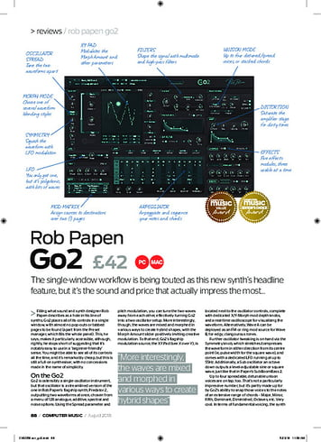 Computer Music Rob Papen Go2