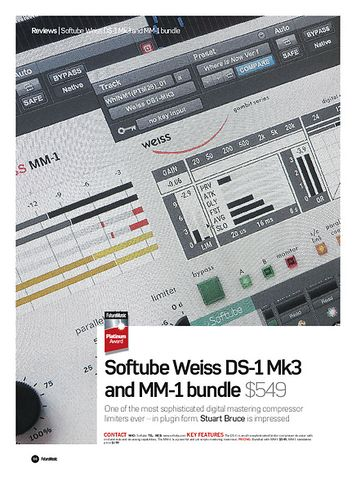 Future Music Softube Weiss DS-1 Mk3 and MM-1 bundle