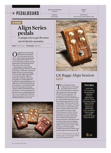 Guitarist LR Baggs Align Equalizer
