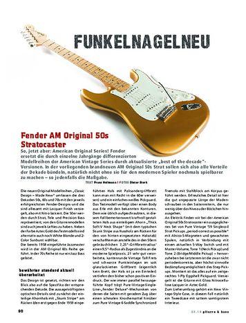 Gitarre & Bass Fender AM Original 50s Stratocaster