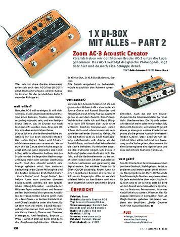 Gitarre & Bass Zoom AC-3 AcousticCreator