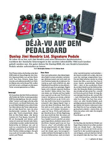 Gitarre & Bass Dunlop Jimi Hendrix Ltd. Signature-Pedale