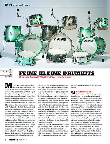 Sticks Sonor AQ2 Drums
