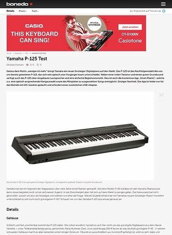 Bonedo.de Yamaha P-125