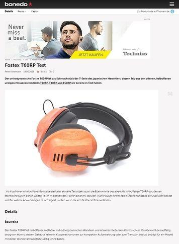 Bonedo.de Fostex T60RP