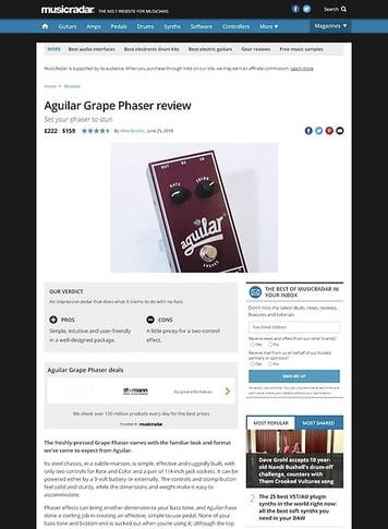 MusicRadar.com Aguilar Grape Phaser