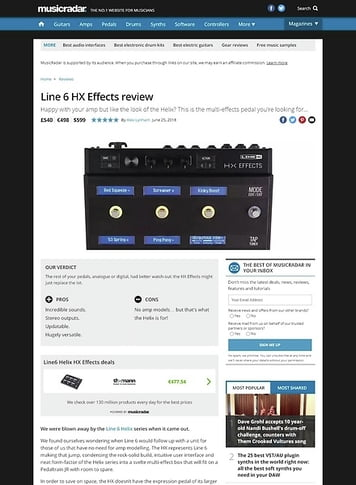 MusicRadar.com Line 6 HX Effects