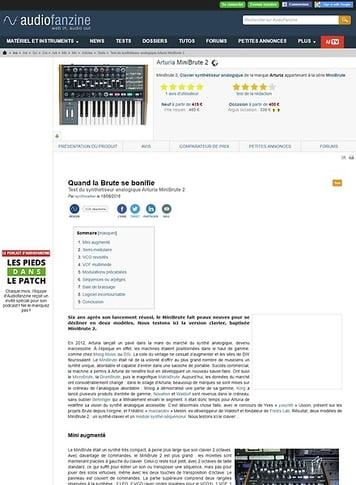 Audiofanzine.com Arturia MiniBrute 2
