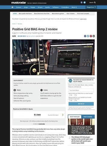 MusicRadar.com Positive Grid BIAS 2