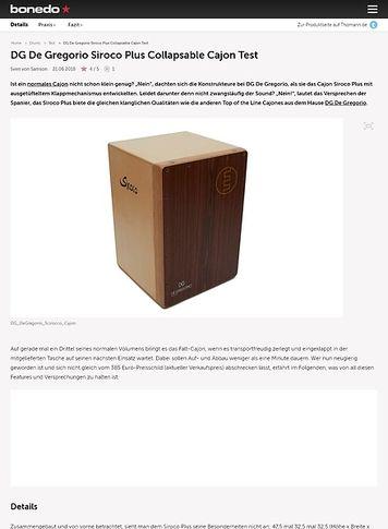 Bonedo.de DG De Gregorio Siroco Plus Collapsable Cajon