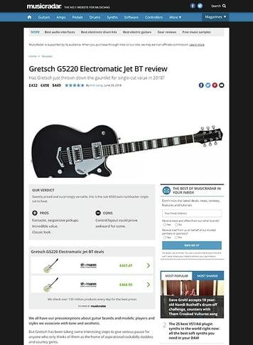 MusicRadar.com Gretsch G5220 Electromatic Jet BT