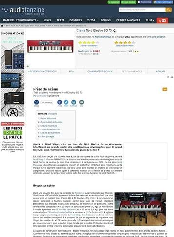 Audiofanzine.com Clavia Nord Electro 6D 73