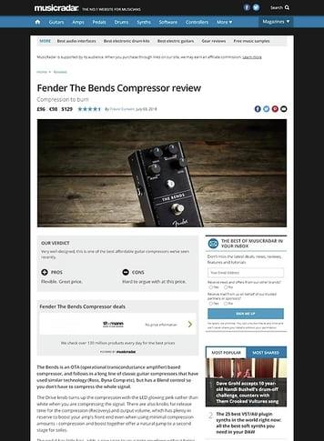 MusicRadar.com Fender The Bends Compressor