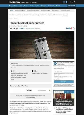 MusicRadar.com Fender Level Set Buffer