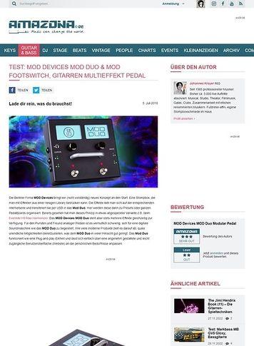 Amazona.de MOD Devices MOD Duo & MOD Footswitch