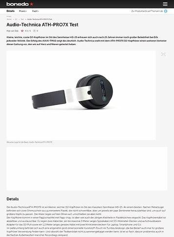 Bonedo.de Audio-Technica ATH-PRO7X