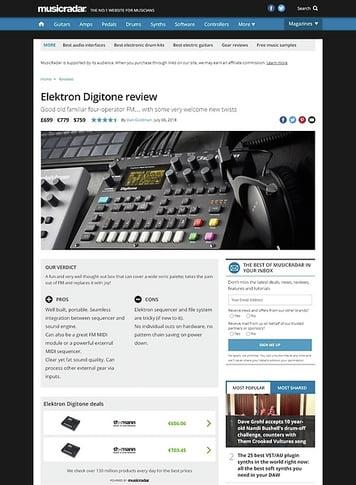 MusicRadar.com Elektron Digitone