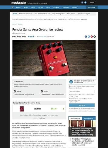 MusicRadar.com Fender Santa Ana Overdrive