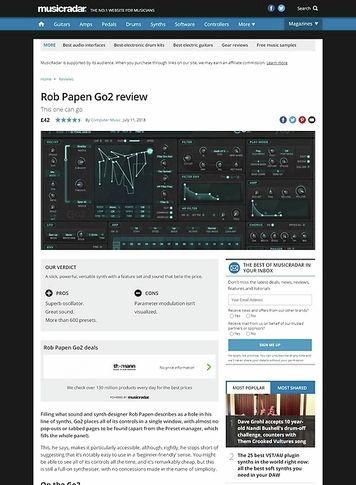MusicRadar.com Rob Papen Go2