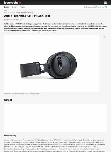 Bonedo.de Audio-Technica ATH-PRO5X