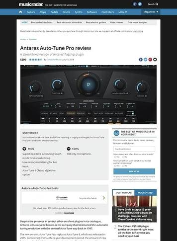 MusicRadar.com Antares Auto-Tune Pro