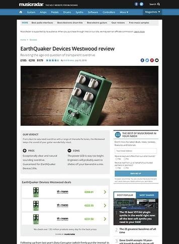MusicRadar.com EarthQuaker Devices Westwood