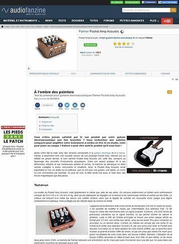 Audiofanzine.com Palmer Pocket Amp Acoustic