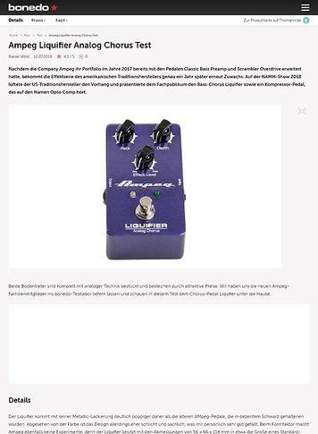 Bonedo.de Ampeg Liquifier Analog Chorus