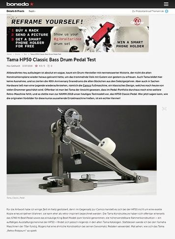 Bonedo.de Tama HP50 Classic Bass Drum Pedal