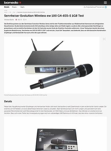 Bonedo.de Sennheiser Evolution Wireless ew 100 G4-835-S 1G8