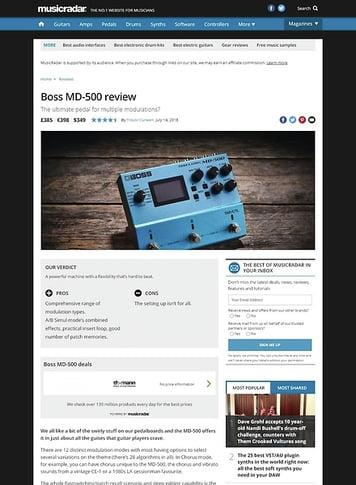 MusicRadar.com Boss MD-500