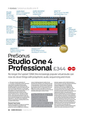 Computer Music PreSonus Studio One 4 Professional