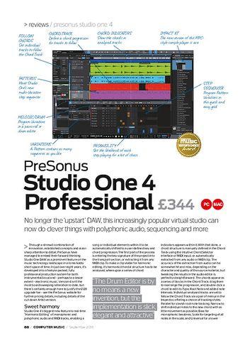 Computer Music PreSonus Studio One 4 Professional