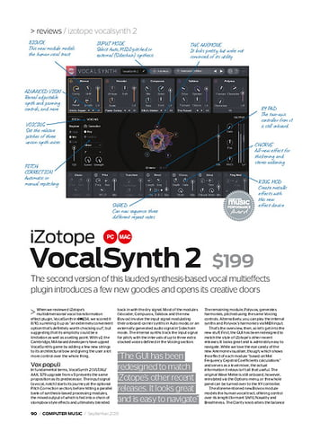 Computer Music iZotope Vocalsynth 2