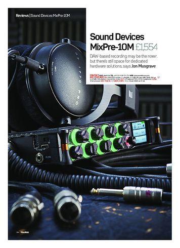 Future Music Sound Devices MixPre-10M