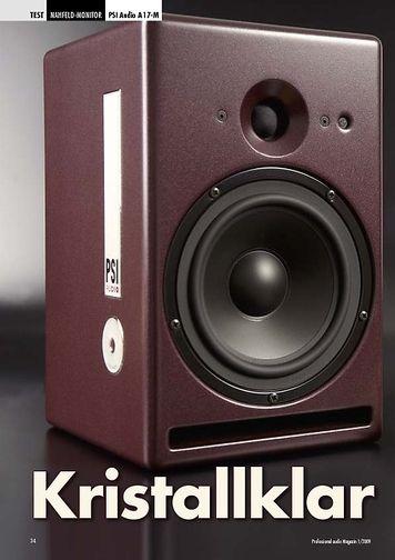 Professional Audio Kristallklar: PSI Audio A 17-M