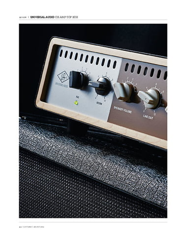 Guitarist Universal Audio Ox Amp Top Box