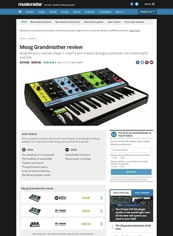 MusicRadar.com Moog Grandmother