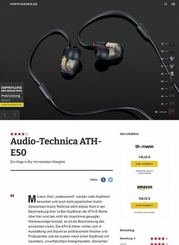 Kopfhoerer.de Audio-Technica ATH-E50