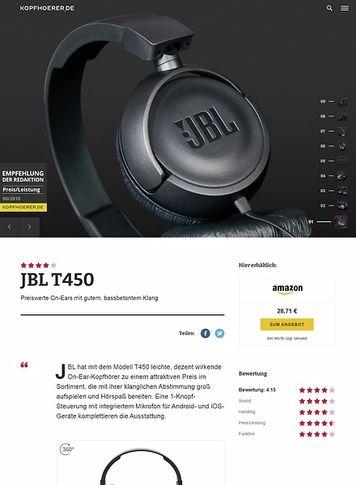 Kopfhoerer.de JBL by Harman T-450 Black