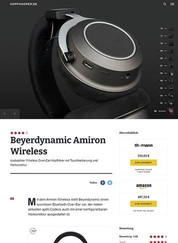 Kopfhoerer.de beyerdynamic Amiron Wireless