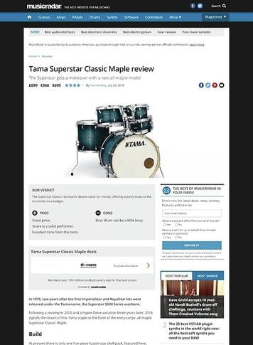 MusicRadar.com Tama Superstar Classic Maple