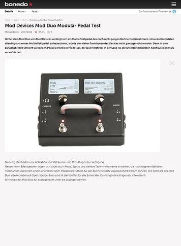 Bonedo.de Mod Devices Mod Duo Modular Pedal