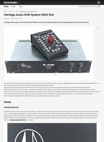 Bonedo.de Heritage Audio RAM System 5000