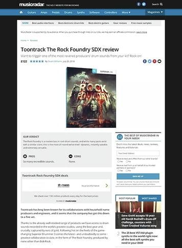 MusicRadar.com Toontrack The Rock Foundry SDX
