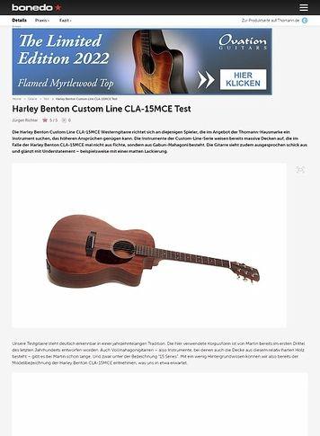 Bonedo.de Harley Benton Custom Line CLA-15MCE