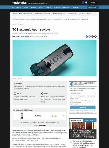 MusicRadar.com TC Electronic Aeon