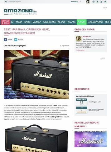 Amazona.de Marshall Origin 50H Head